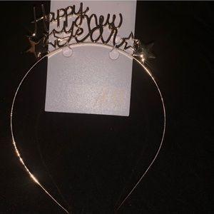 Happy New Year Gold Headband